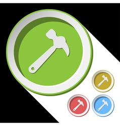 Color icons with claw hammer vector