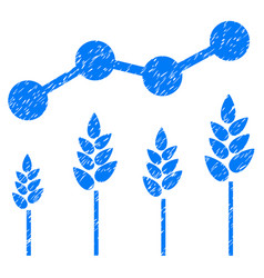 Crop analytics icon grunge watermark vector