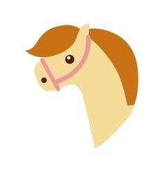 cute horse toy icon vector image vector image