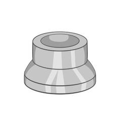Electronic charcoal for shisha icon vector