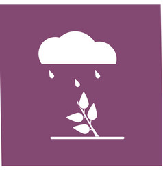 Icon rain and bush vector