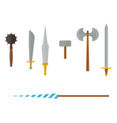 knights symbols medieval weapons heraldic vector image vector image