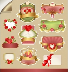 Labels for Valentine s Day vector image vector image
