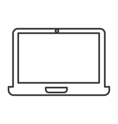 laptop computer portable icon vector image