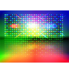 rgb light wall vector image