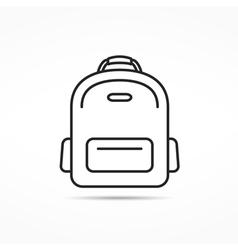School bag line icon vector