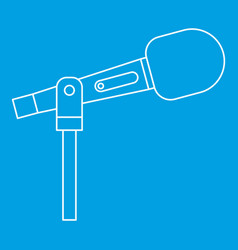 Stage microphone icon outline style vector
