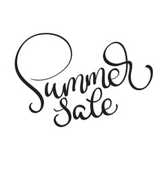 summer sale text on white background vector image
