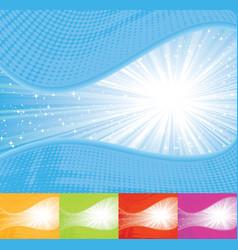 sunbeam wavy background vector image
