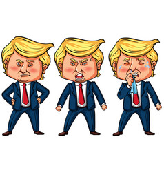 Three actions of us president trump vector