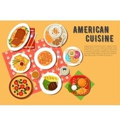 Traditional american picnic menu flat icon vector