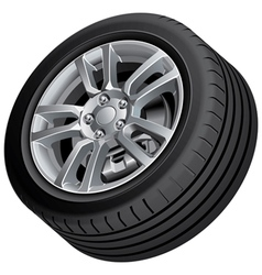 Vehicular wheel isolated vector