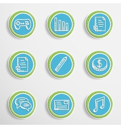 Web Buttons with Drawing Icons vector image