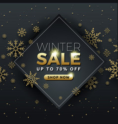 winter sale background banner template design vector image vector image