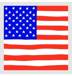 Hand draw squared flag of usa vector