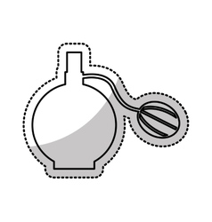 Female lotion bottle icon vector