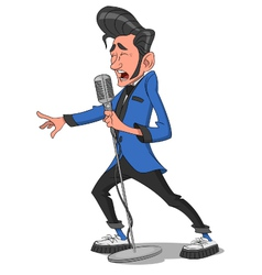 Man with microphone vector