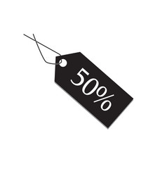 50 percent tag on white background 50 percent tag vector