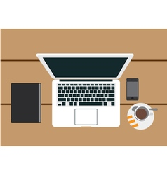 Lap top mobile vector