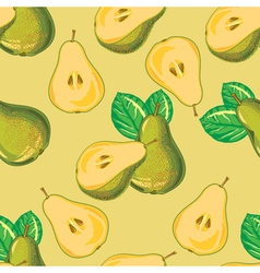 Seamless pattern of green pear vector