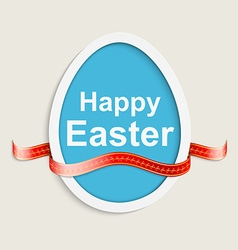 Easter egg happy easter card vector