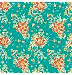 Floral seamless pattern flower garden vector
