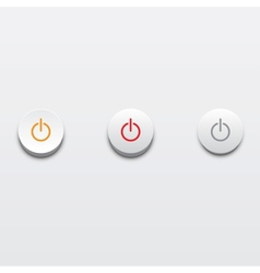 Power buttons ui element vector