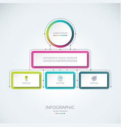 abstract infographic template vector image vector image