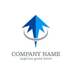 arrow up company logo design vector image
