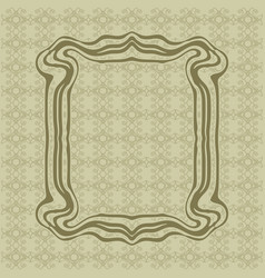 Art nouveau smooth lines decorative rectangle vector