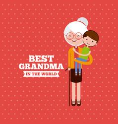 Best grandma design vector