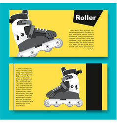 black and white roller skates for aggressive vector image