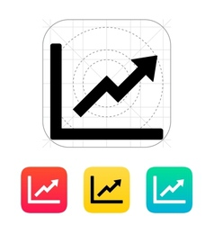 Chart up icon vector image vector image