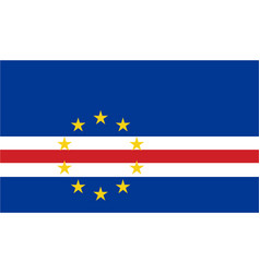 Colored flag of cape verde vector