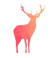 Deer silhouette of geometric shapes vector