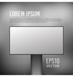 Empty billboard template vector