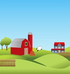 Farm and countryside vector