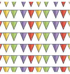 flags party to decoration design tradition vector image vector image
