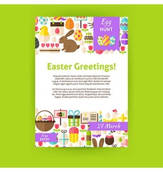 Happy easter holiday invitation template poster vector