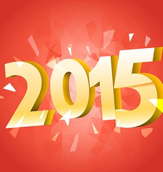 Happy new 2015 year banner with red ribbon vector