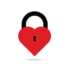 Heart with keyhole vector