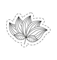 lotus flower decoration cut line vector image vector image