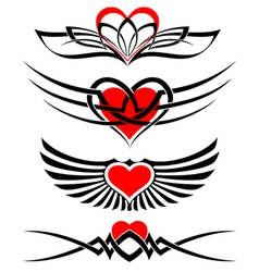 love tattoo set vector image vector image