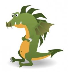 magic dragon vector image vector image
