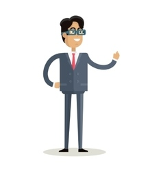 Man character in flat design vector