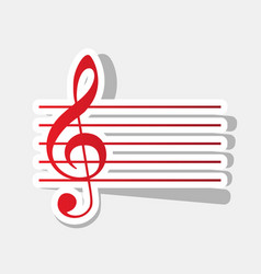 Music violin clef sign g-clef new year vector