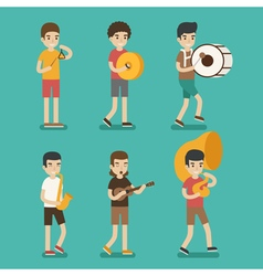 Musician character eps10 format vector image vector image