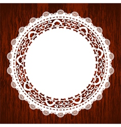 napkin on wooden table vector image vector image