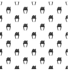Portion of french fries pattern vector