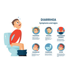 problem with stomachache character in bathroom vector image vector image